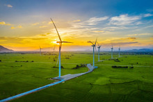 Landscape With Turbine Green E...