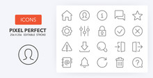 User Interface 1 Line Icons 25...