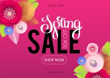 Spring Sale. Seasonal Offer Po...