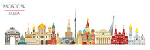 Moscow Skyline Vector 6