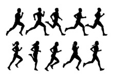 Running People, Vector Runners...