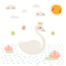 Cute Swan Illustration