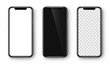 Smartphone set. Realistic mobile phone. Vector
