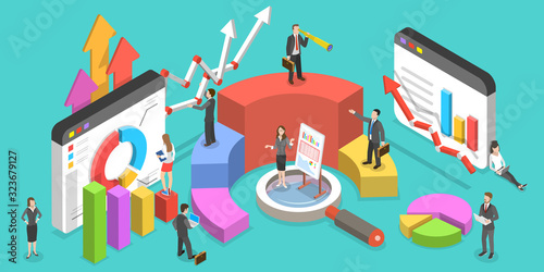 Photo Isometric Vector Concept of Business Environment