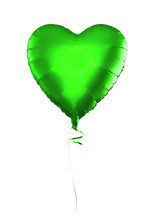 Green Balloon Isolated On White Background