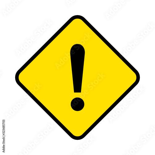 znak ostrzeżenie Canvas Print