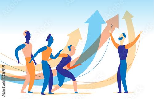 Influencer, leader, oratore motiva, incoraggia le persone a crescere, a raggiungere alti risultati Canvas Print