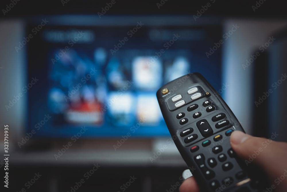 Fototapeta VOD service on television. TV streaming concept