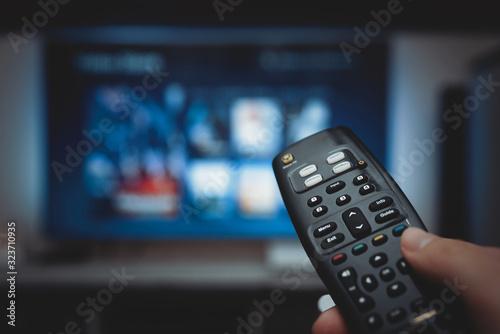 Fototapeta VOD service on television. TV streaming concept obraz