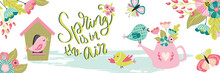 Spring Is In The Air Lettering...