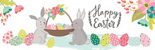 Happy Easter Horizontal Banner...