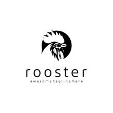 Vintage Vector Rooster Head Lo...