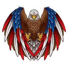 An Eagle With An American Flag...