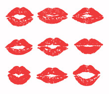 Kiss Trace Set (red, Pink Lips...