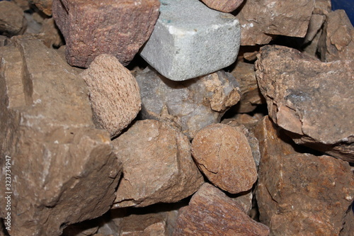 old stone wall of stones