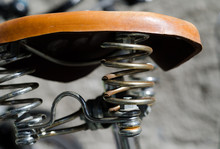 Bicycle Seat In Leather.