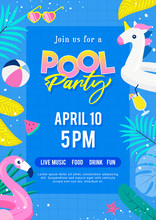 Pool Party Invitation Poster V...