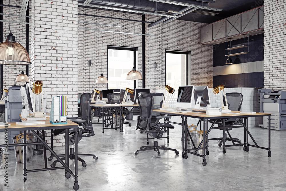 Fototapeta contemporary loft office