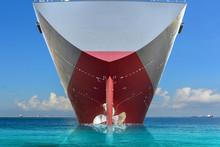 Stern Cargo Ship In The Sea, P...
