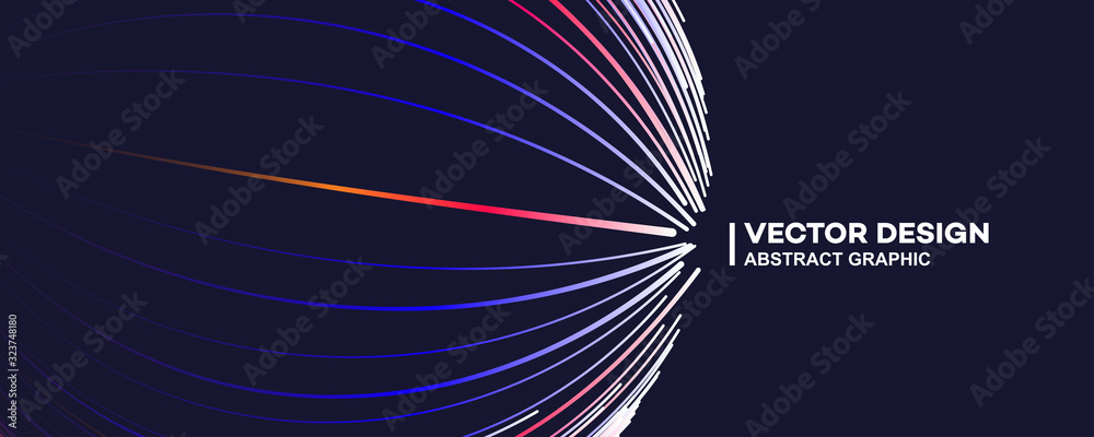 Fototapeta Abstract color lines vector background illustration, fashion banner, poster background with gradient color lines