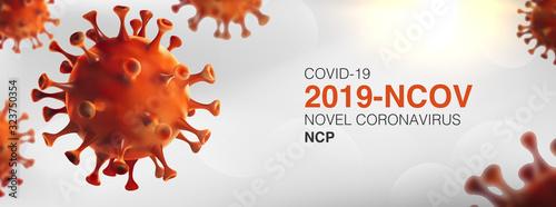 Fototapeta China epidemic coronavirus 2019-nCoV in Wuhan, Novel Coronavirus (2019-nCoV)