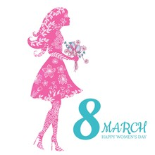 Women's Day Greeting Card. 8 M...