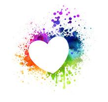 Grunge Watercolor Heart