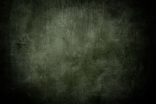 Grunge Green Background Or Texture With Dark Vignette Borders
