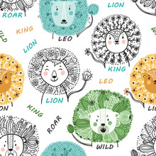 Seamless Pattern For Kids With...