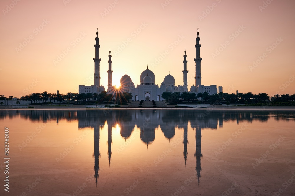Abu Dhabi at sunset