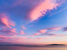 Tender Pink Clouds In The Blue...