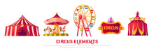 Circus Elements With Carousel,...