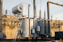 Power Transformer At The Elect...