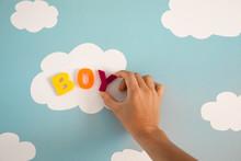 Expecting A Baby Boy Concept. ...