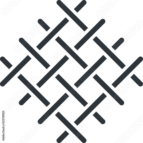 Obraz Knots weave icon, vector illustration - fototapety do salonu