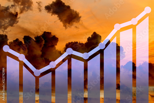 Economic growth concept with charts