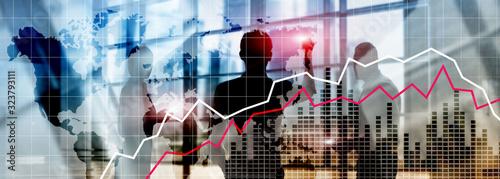 Fotografía Financial Crysis Recession Economic concept.