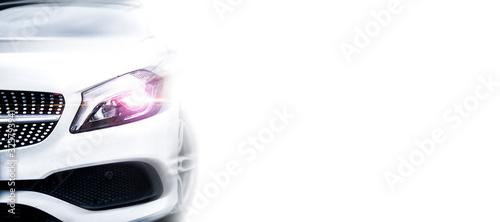 Obraz Modern white car - fototapety do salonu