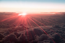 Sunset Above The Clouds. The V...