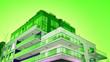 Leinwanddruck Bild - Modern architecture duo tone background. Geometric background