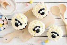 Homemade Easter Sheep Cupcakes...