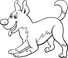 Cartoon Playful Dog Character ...