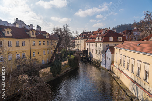 View of Prague's canal and buildings Wallpaper Mural