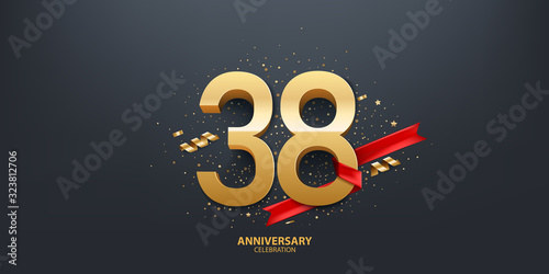 Papel de parede 38th Year anniversary celebration background