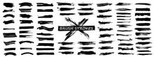 Diverse Brush Stroke Set. Isol...