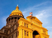 Texas State Capitol Building At Sunset