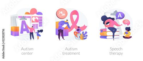 Autism spectrum disorder, neuroontogenetic disease, mental development lag Canvas Print