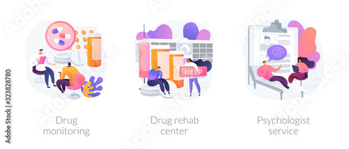 Addiction treatment, narcotic addict medication, recovery and rehabilitation Wallpaper Mural