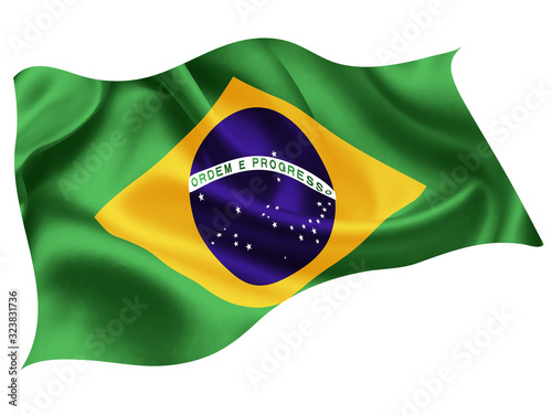 Obraz na plátně ブラジル   国旗 世界 アイコン