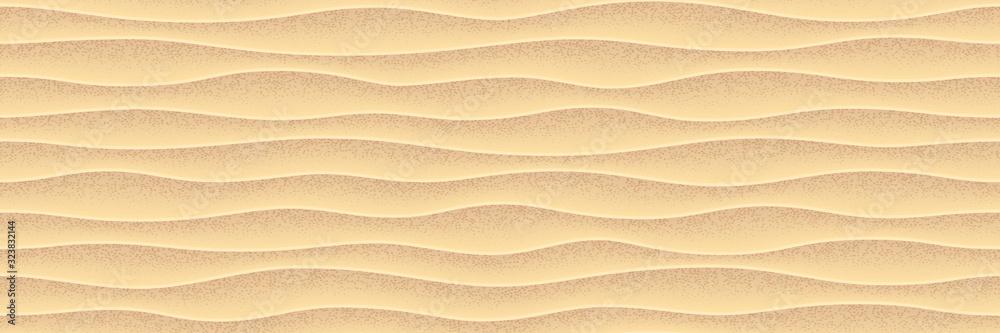 Fototapeta Sea yellow sand. Vector seamless pattern